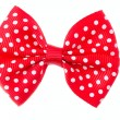 Red ribbon bow. — Stock Photo