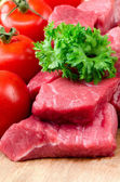 Fresh raw meat. — Stock Photo
