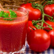 Fresh tomato juice — Stock Photo