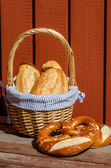 Crispy French baguettes — Stock Photo