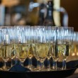 Stock Photo: Champagne in glases