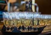 Champagne in the glases — Stock Photo