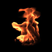 Turbulent flame — Stock Photo