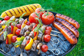 Backyard barbecue — Stock Photo