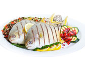 Grilled Pompano — Stock Photo