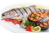 烤的鳟鱼 — 图库照片