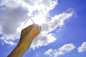 Catching a star — Stock Photo