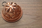 Copper pudding mold — Stock Photo