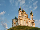 St. Andrew cathedral in Kiev — Stock Photo