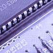 Royalty-Free Stock Photo: Electronic components on a obsolete printed-circuit board
