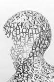 KIEV, UKRAINE - JUN 04: sculpture detail Body of Knowledge from Jaume Plensa on June 04, 2012 in Kiev, Ukraine — Stock Photo