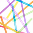 Colorful drinking straws close up background — Stock Photo #22051025