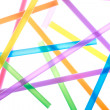 Colorful drinking straws close up background — Stock Photo #22051029