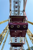 Ferris wheel cabin close-up against blue sky — Stock Photo