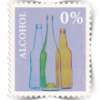 Stock Photo: Label for non-alcoholic drinks advertisements stylized as post stamp