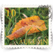 Label for seasonal ads or calendars stylized as post stamp — Stockfoto