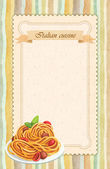 Italian cuisine restaurant menu card design in vintage style — Stock Photo