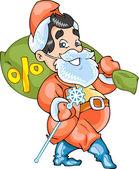 Buisness Santa Claus — Stock Vector