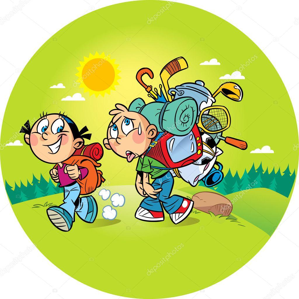 Картинка девочка и мальчик для детей