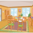 Royalty-Free Stock Vector Image: Interior room