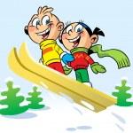 Ski trip — Stock Vector