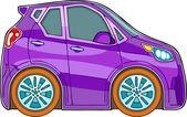 Violet cartoon car — Stock Vector
