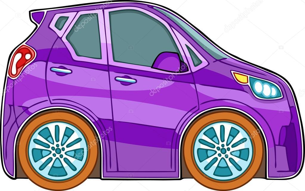 Voiture de dessin anim violet image vectorielle 16823825 - Voiture profil dessin ...