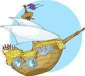 Pirate's boat — Stok Vektör
