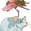 Pests and rodents — Stock Vector