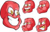 Crazy red face — Stock Vector