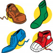 Certain footwear - Stock Vector