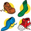 Stock Vector: Certain footwear