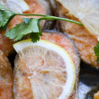 Baked trout with lemon — Stock Photo