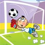 Goalkeeper — Stock Vector #18559509