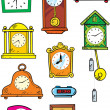Variety of hours — Stock Vector