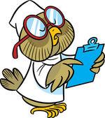 Owl-doctor — Stock Vector
