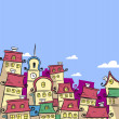 Fairytale town - Stock Vector