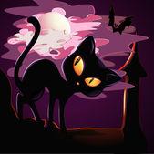 Black kitten — Stockvektor