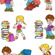 Royalty-Free Stock Vector Image: Characters. Schoolchild