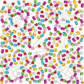 Muster der bunten perlen — Stockvektor