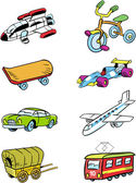 Variety of vehicles — Stock Vector