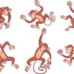 Monkeys — Stock Vector