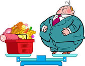 Heavy eater — Stock Vector