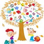 Tree autumn — Stock Vector #28624601