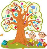 School tree — Stock Vector
