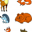 Forest animals — Image vectorielle