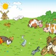 Stock Vector: Farmyard