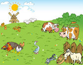 Farmyard — Stock Vector