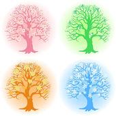 Tree in different seasons — Stock Vector