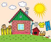 卡通房子 — 图库矢量图片